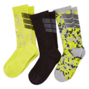 Xersion™ 3-pk. Performance Crew Socks - Boys 8-20