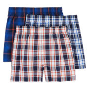 Arizona 3-pk. Woven Boxer Briefs - Boys 2-20