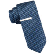 JF J. Ferrar® Atlantic Avenue Nonsolid Dot Tie and Tie Bar Set