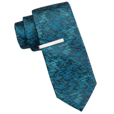 jcpenney.com | JF J. Ferrar® Atlantic Avenue Abstract Tie and Tie Bar Set