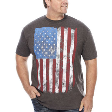 jcpenney.com | Walnut & 39th Short-Sleeve American Flag Tee - Big & Tall
