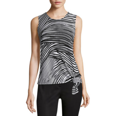 jcpenney.com | Liz Claiborne® Sleeveless Side-Knot Tee  - Misses and Petites