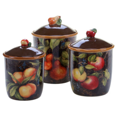 jcpenney.com | Certified International Capri 3 Pc. Canister Set