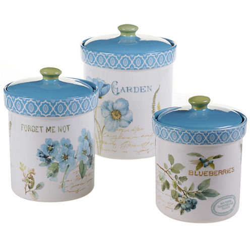 Certified International Greenhouse 3-pc. Canister Set