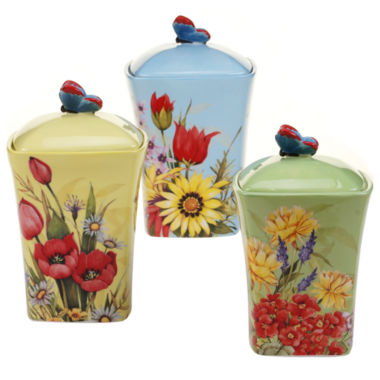 jcpenney.com | Certified International Floral Bouquet 3-pc. Canister Set