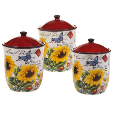 jcpenney.com | Certified International Sunflower Meadow 3-pc. Canister Set