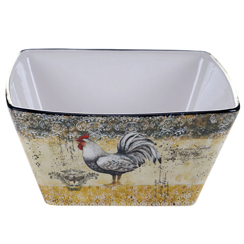 Certified International Vintage Rooster Deep Bowl