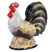 Certified International Vintage Rooster 3-D Cookie Jar