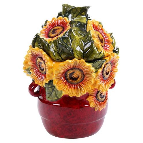 Certified International Sunflower Meadow 3D Cookie Jar