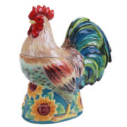 Certified International Sunflower Rooster 3-D Rooster Cookie Jar