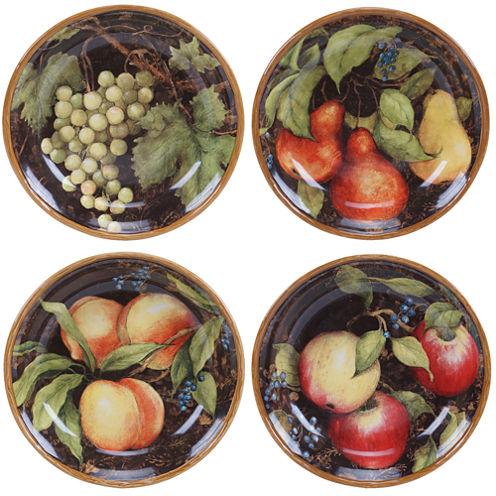 Certified International Capri Set of 4 Soup/Pasta Bowls