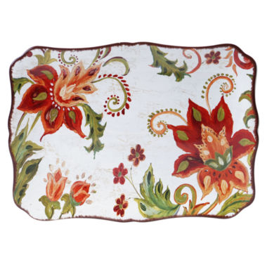 jcpenney.com | Certified International Spice Flowers Rectangular Platter