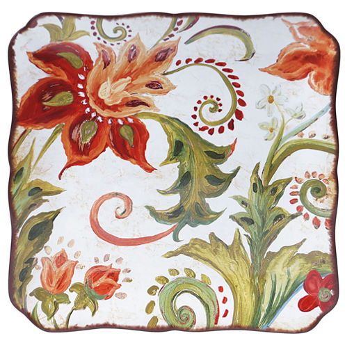 Certified International Spice Flowers Square Platter