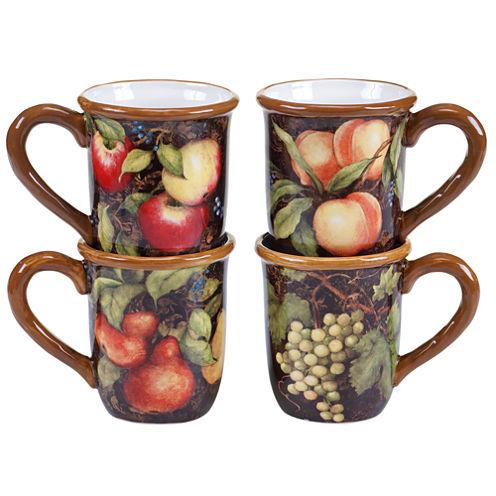 Certified International Capri Set of 4 Mugs