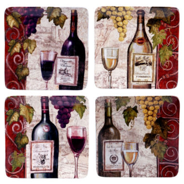 jcpenney.com | Certified International Wine Tasting Set of 4 Salad Plates