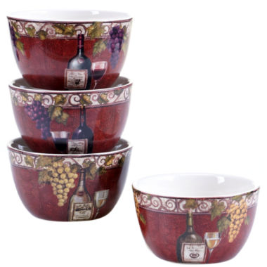 jcpenney.com | Certified International Wine Tasting Set Of 4 Ice Cream Bowls