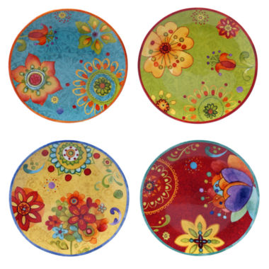 jcpenney.com | Certified International Tunisian Sunset Set Of 4 Salad Plates