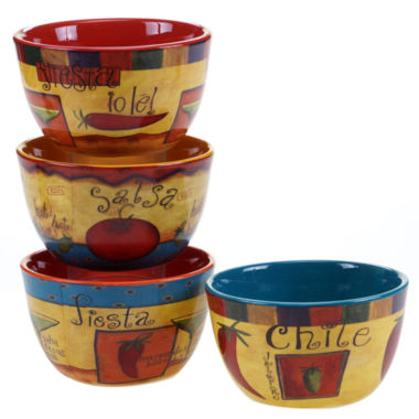 jcpenney.com | Certified International Salsa Set of 4 Ice Cream Bowls