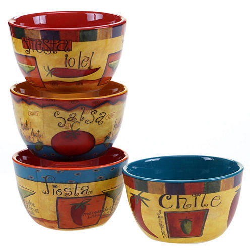 Certified International Salsa Set of 4 Ice Cream Bowls