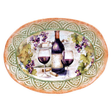 jcpenney.com | Certified International Sanctuary Wine Oval Platter