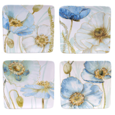 jcpenney.com | Certified International Greenhouse Set of 4 Poppies Salad Plates