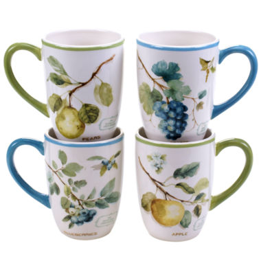 jcpenney.com | Certified International Greenhouse Set of 4 Fruit Mugs