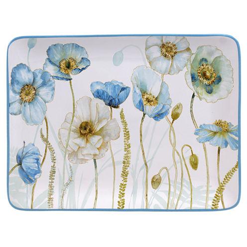 Certified International Greenhouse Rectangular Platter