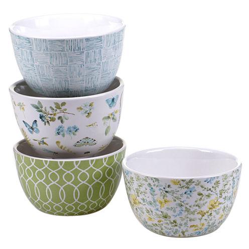 Certified International Greenhouse Set Of 4 Ice Cream Bowls