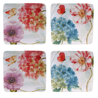 jcpenney.com | Certified International Rainbow Seeds Set of 4 Salad Plates