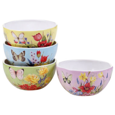 jcpenney.com | Certified International Floral Bouquet Set Of 4 Ice Cream Bowls