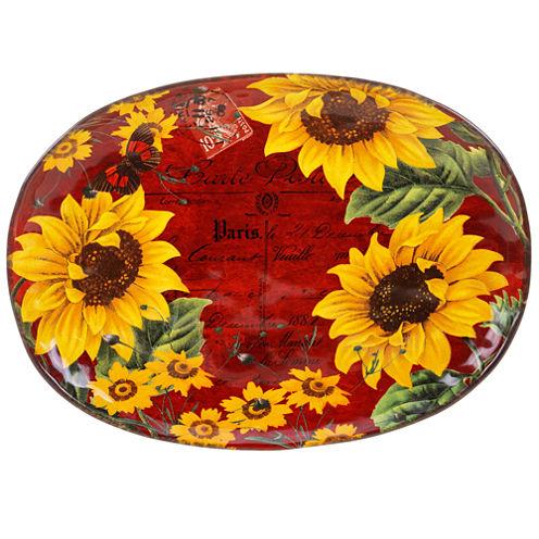 Certified International Sunflower Meadow Oval Platter