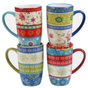 Certified International Anabelle Set of 4 Mugs