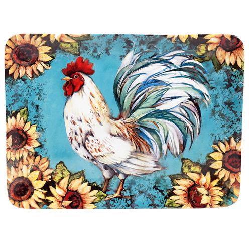Certified International Sunflower Rooster Rectangular Platter