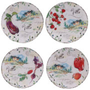 Certified International Villa Set of 4 Dessert Plates