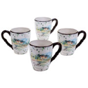 Certified International Villa Set Of 4 Mugs