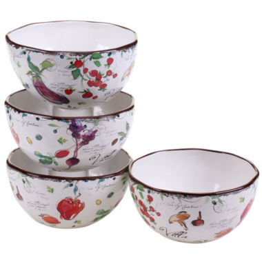 jcpenney.com | Certified International Villa Set Of 4 Ice Cream Bowls