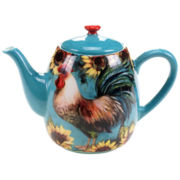 Certified International Sunflower Rooster Teapot