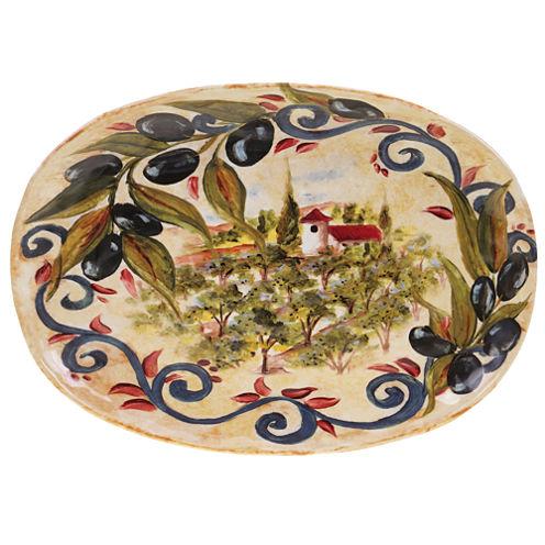 Certified International Umbria Oval Platter