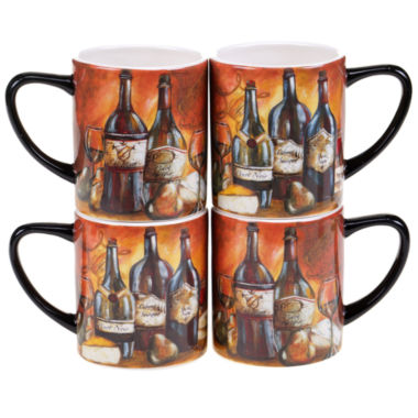 jcpenney.com | Certified International Private Reserve Set Of 4 Mug