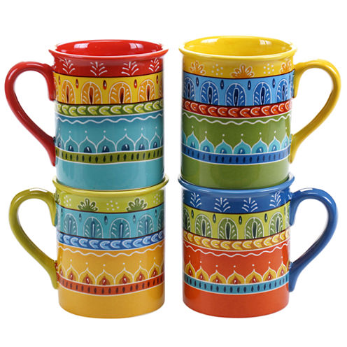 Certified International Valencia Set Of 4 Mugs