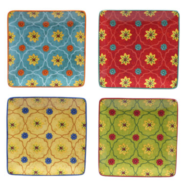 jcpenney.com | Certified International Tunisian Sunset Set Of 4 Canape Plates