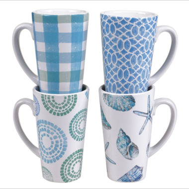 jcpenney.com | Certified International Sea Finds Set of 4 Latte Mugs
