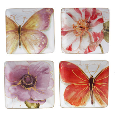 jcpenney.com | Certified International Rainbow Seeds Set of 4 Canapé Plates