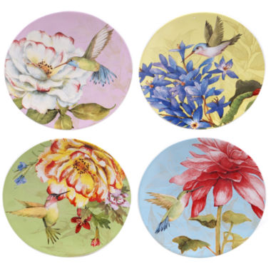 jcpenney.com | Certified International Floral Bouquet Set Of 4 Canape Plates