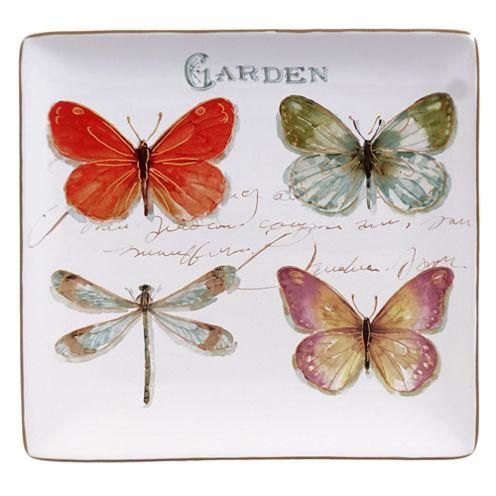 Certified International Rainbow Seeds Square Platter