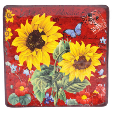 jcpenney.com | Certified International Sunflower Meadow Square Platter