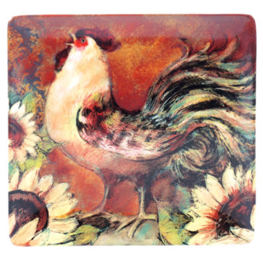 jcpenney.com | Certified International Sunflower Rooster Square Platter