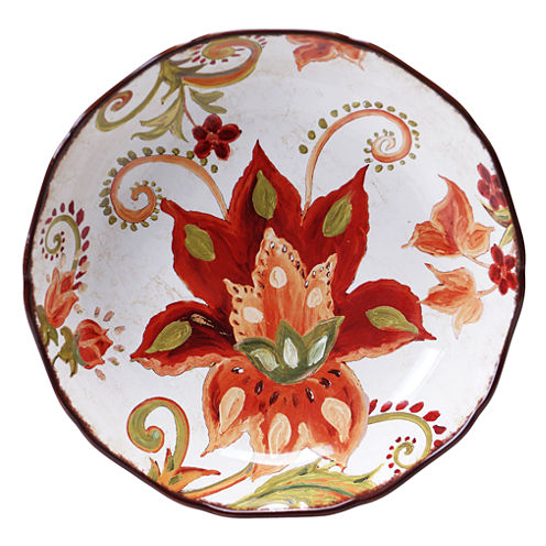 Certified International Spice Flowers Serving/Pasta Bowl