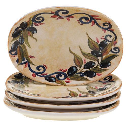Certified International Umbria Set of 4 Canapé Plates