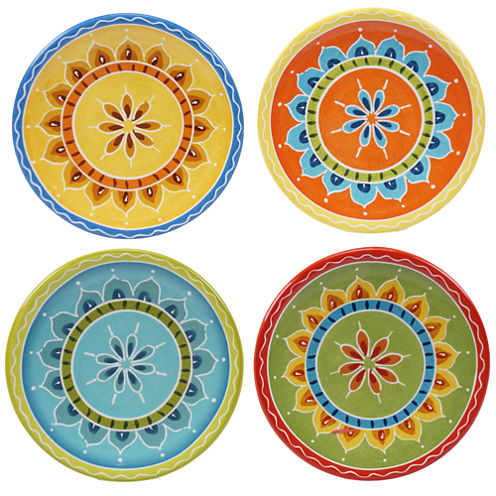 Certified International Valencia Set of 4 Canape Plates